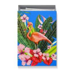 """Коробка для футболок """"Фламинго"""" - фламинго, птица, цветы"""