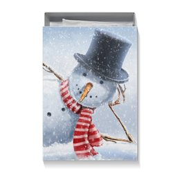 "Коробка для футболок ""Снеговик"" - новый год, снег, рождество, снеговик"