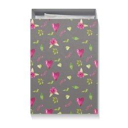"""Подарочная коробка большая (пенал) """"Весна"""" - сердце, 14 февраля, роза, розовый, день влюбленных"""