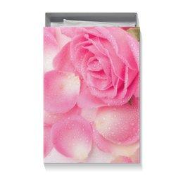 """Коробка для футболок """"Капли на лепестках розы"""" - день матери, 8 марта, капли, цветы, розы"""