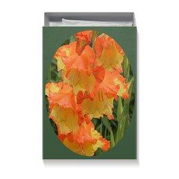 """Коробка для футболок """"Цветник."""" - цветы, цветок, радость, гладиолус, гладиолусы"""