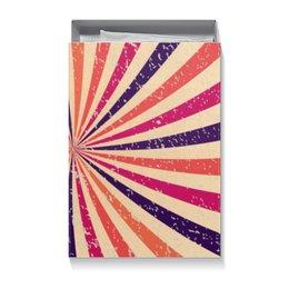 """Коробка для футболок """"Радуга"""" - радуга, разноцветный, калейдоскоп, винтажный, узор"""