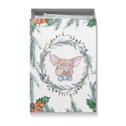 """Коробка для футболок """"Новогодний сюрприз """" - свинка, свинья, новыйгод"""