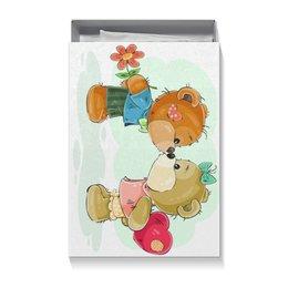 """Коробка для футболок """"Влюблённые медвежата"""" - сердце, любовь, день валентина, влюблённые, день влюблённых"""