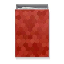 """Подарочная коробка большая (пенал) """"Красная абстракция"""" - абстрактный, узор, рисунок, стиль, орнамент"""