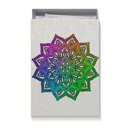 """Коробка для футболок """"Мандала на серебряном фоне"""" - праздник, подарок, мандала, индийский, мехенди"""
