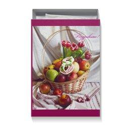 "Коробка для футболок ""8 МАРТА"" - фрукты, тюльпаны, 8марта, натюрморт, печенье"