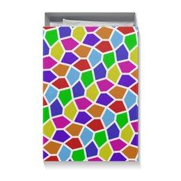 "Коробка для футболок ""Арлекин"" - ярко, мозаика, пятиугольники"