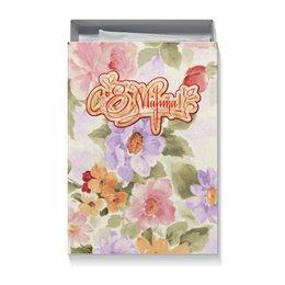 """Коробка для футболок """"С 8 МАРТА !!!"""" - весна, орнамент, чувства, шрифт, яркие краски"""