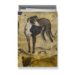 """Коробка для футболок """"""""Штудия собак"""" Яна Брейгеля Старшего"""" - новый год, картина, собака, живопись"""