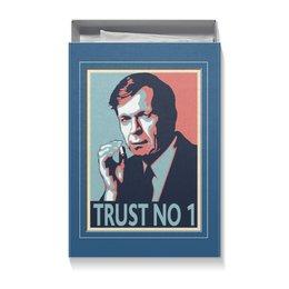 """Коробка для футболок """"Никому не доверяй"""" - сериал, секретные материалы, курильщик"""
