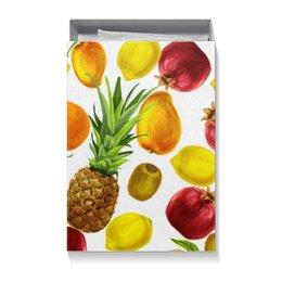 """Коробка для футболок """"Фруктовое ассорти"""" - фрукты, ананас, лимон, апельсин, киви"""
