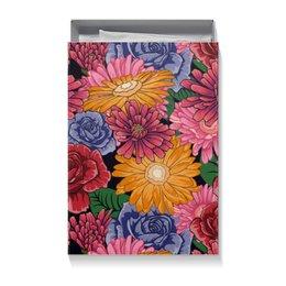 """Коробка для футболок """"Подарочная упаковка с ярким цветочным рисунком"""" - цветы, природа, подарок, упаковка, коробка"""