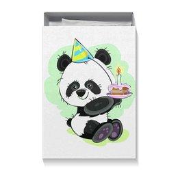 """Коробка для футболок """"Панда поздравляет!"""" - панда, медвежонок, день рождения, поздравительный, подарок"""