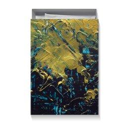 """Коробка для футболок """"Abstract"""" - разводы, абстракция, тренд, живопись, золотой"""
