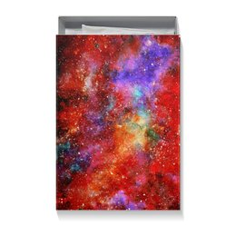 "Коробка для футболок ""Red Space"" - space, космос, cosmos, космический дизайн, космический арт"