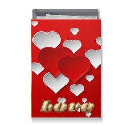 """Коробка для футболок """"ЛЮБОВЬ LOVE"""" - надпись, стиль, сердца, красота, яркость"""