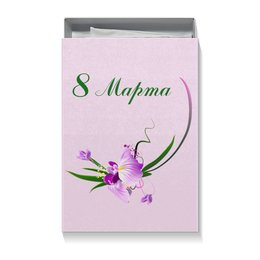 """Коробка для футболок """"Орхидея на 8 Марта"""" - цветы, 8 марта, настроение, орхидея, 8мар"""