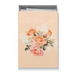 """Коробка для футболок """"Чайная роза"""" - розы, цветы"""
