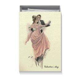 "Коробка для футболок ""Вальс влюбленных"" - день святого валентина, 14 февраля, винтаж, valentine's day, день влюбленных"