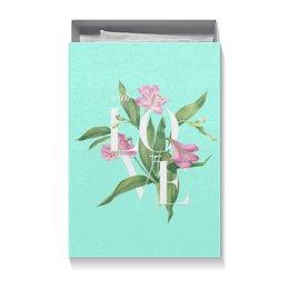 "Коробка для футболок ""With love"" - blue, акварель, любовь, цветы, watercolor flowers"