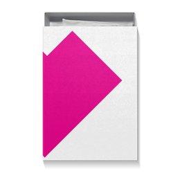 "Коробка для футболок ""Розовое сердце танграм"" - сердце, любовь, знаки, символы, рисунок"