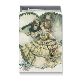 """Коробка для футболок """"Винтажные влюбленные"""" - любовь, день святого валентина, 14 февраля, valentine's day, день влюбленных"""