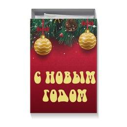"""Коробка для футболок """"Новогодняя"""" - новый год, игрушки, праздничный, ёлка, новогодний"""