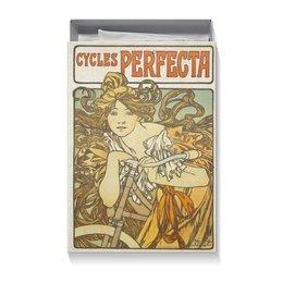 """Коробка для футболок """"Cycles Perfecta Альфонса Мухи"""" - девушка, день святого валентина, 8 марта, альфонс муха, сестра"""