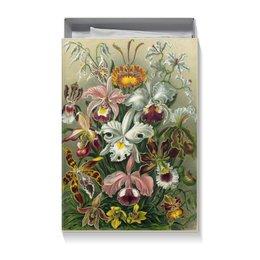 """Коробка для футболок """"Орхидеи (Orchideae, Ernst Haeckel)"""" - 14 февраля, 8 марта, подарок, маме, эрнст геккель"""