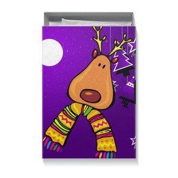 """Коробка для футболок """"новый год"""" - олень, олень сова новый год год собаки собака"""