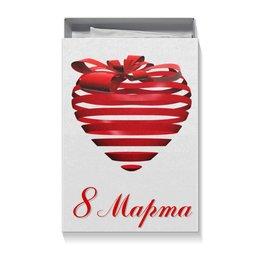 "Коробка для футболок ""Сердце на 8 Марта"" - праздник, сердце, 8 марта, подарок, сестра"