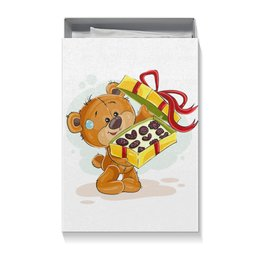 """Коробка для футболок """"Мишка Тэдди"""" - конфеты, медвежонок, игрушка, праздничный, мишка тэдди"""