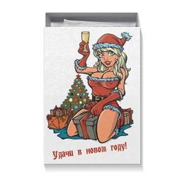 """Подарочная коробка большая (пенал) """"С новым годом!"""" - новый год, снегурка, снегурочка, с новым годом, поздравляю с новым годом"""