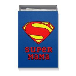 """Коробка для футболок """"Супер Мама"""" - супермен, комиксы, мама"""
