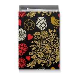 """Коробка для футболок """"День Св. Валентина"""" - день св валентина, валентинка, сердца, цветы"""