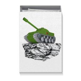 """Коробка для футболок """"С 23 февраля!"""" - 23 февраля, день защитника отечества, танк, февраль, прадник"""