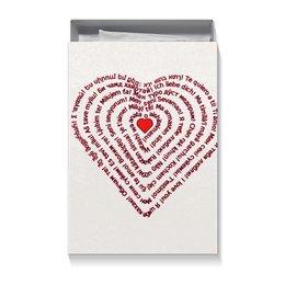 """Коробка для футболок """"Я тебя люблю (подарочный)"""" - праздник, любовь, надписи, подарок, слова"""
