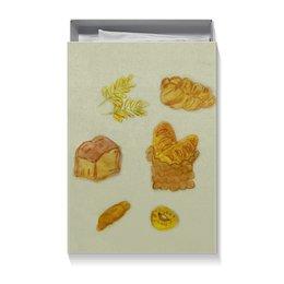 "Коробка для футболок ""Выпечка"" - вкусно, пончик, париж, хлеб, круассан"