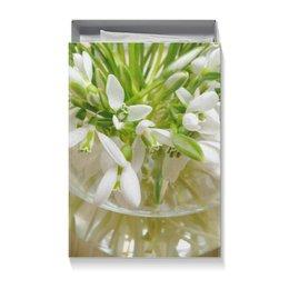 """Коробка для футболок """"Подснежники"""" - цветы, 8 марта, подарок, день рождения"""