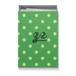 """Коробка для футболок """"Зелёный горошек ЗГ """" - ургант, ирландский, зелёный горошек"""