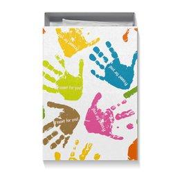 """Коробка для футболок """"Present For You!"""" - радуга, подарок, hands, present, joy"""