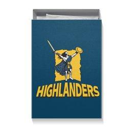 """Коробка для футболок """"«Хайлендерс» регби"""" - спорт, регби, новая зеландия регби, супер регби, горцы"""