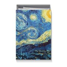 """Коробка для футболок """"Звездная ночь Ван Гога"""" - арт, картина, подарок, ван гог, живопись"""