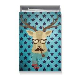 """Подарочная коробка большая (пенал) """"олень"""" - новый год, олень"""