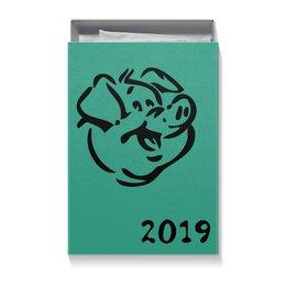 """Коробка для футболок """"год Свиньи 2019"""" - новый год, свинья, pig, год свиньи"""