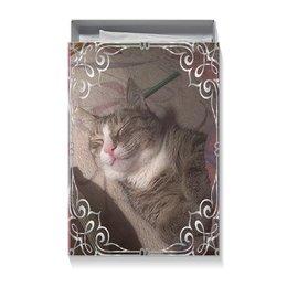 "Коробка для футболок ""ТЕПЛЫЕ СНЫ"" - кот, сон, красота, улыбка, уют"