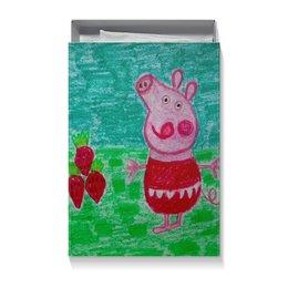 """Коробка для футболок """"Свинка"""" - клубничка, свинка, вкусно"""