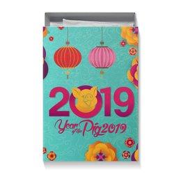 """Коробка для футболок """"Новый год"""" - новый год, свинья, 2019"""