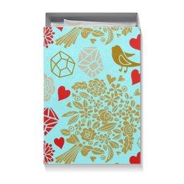 """Коробка для футболок """"День Св. Валентина"""" - цветы, сердца, валентинка, день св валентина"""
